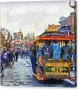 Trolley Car Main Street Disneyland Photo Art 02 Canvas Print