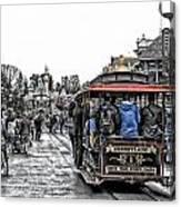 Trolley Car Main Street Disneyland Sc Canvas Print