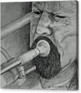 Trombone-the Trombonist Canvas Print