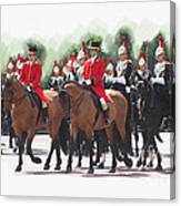 Trooping Of The Colour Canvas Print