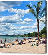 Tropical Beach In Port Dover Canvas Print