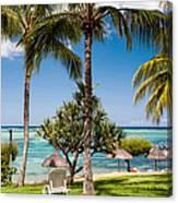 Tropical Beach. Mauritius Canvas Print