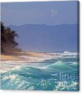 Tropical Beach Oahu Hawaii Canvas Print