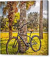 Tropical Bicycle Canvas Print