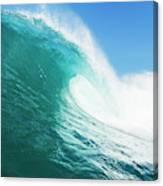Tropical Blue Ocean Wave Canvas Print