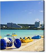 Tropical Fun At The Beach In Tumon Bay Guam Canvas Print