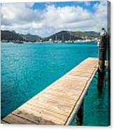 Tropical Harbor Canvas Print