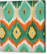 Tropical Ikat II Canvas Print