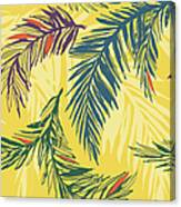 Tropical Jungle Floral Seamless Pattern Canvas Print
