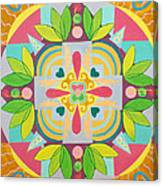 Tropical Mandala Canvas Print