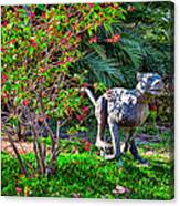 Tropical Mountain Lion Canvas Print