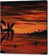 Tropical Night Canvas Print
