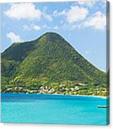 Tropical Panorama In The Caribbean Canvas Print
