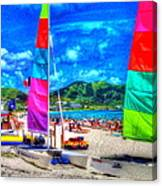 Tropical Sails Canvas Print