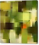 Tropical Shades - Green Abstract Art Canvas Print