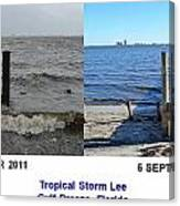 Tropical Storm Lee Difference A Day Makes Canvas Print