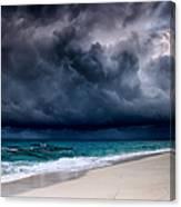 Tropical Storm Over The Caribbean Sea Canvas Print