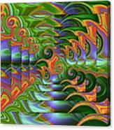 Tropical Swirls Layered Canvas Print