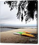 Tropical Watercraft Canvas Print