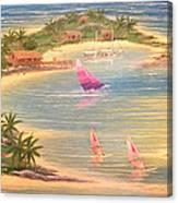 Tropical Windy Island Paradise Canvas Print