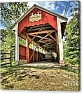 Trostle Town Covered Bridge Canvas Print