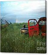 Truck And Rainbow Canvas Print