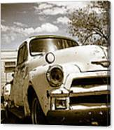 Truck And Trailer Canvas Print