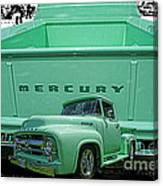 Truck In Tailgate-hdr Canvas Print