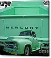 Truck In Tailgate Canvas Print