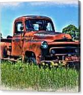 Truck In The Grass Canvas Print