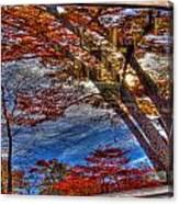 Truck Window Reflection 02 Canvas Print