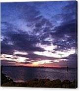 True Blue Sunset Canvas Print
