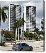Trump Plaza In Downtown West Palm Beach Skyline Canvas Print