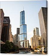 Trump Tower And Downtown Chicago Buildings Canvas Print