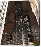Trump Tower Chicago At Night Canvas Print