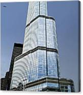 Trump Tower Facade 3 Letter Signage Canvas Print