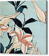 Trumpet Lilies Canvas Print