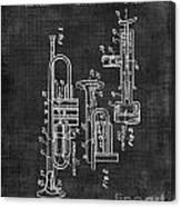 Trumpet Patent Canvas Print