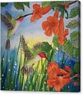 Trumpet Vine Fantasy Canvas Print