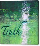 Truth - Emerald Green Abstract By Chakramoon Canvas Print