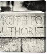 Truth For Authority Lucretia Mott  Canvas Print