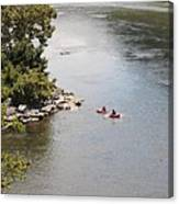 Tubing On The Potomac River At Harpers Ferry Canvas Print