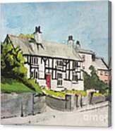 Tudor Cottage Cheshire England Canvas Print