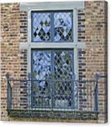 Tudor Style Windows With Balcony Canvas Print
