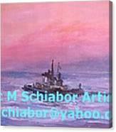Tug At Sunrise Canvas Print