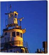 Tug Boat At Dawn, Cape Ann, Gloucester Canvas Print