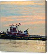 Tug Boat Hard At Work Canvas Print