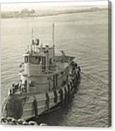 Tug Boat In Puerto Rico 1956 Canvas Print