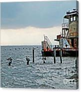 Tug Boat On Lake Pontchartrain Canvas Print