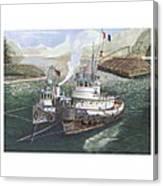 Gale Warning Safe Harbor Canvas Print